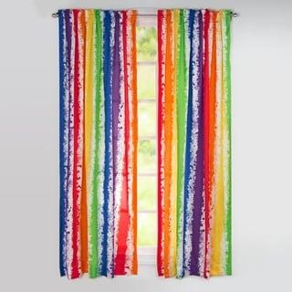 Learning Linens Brainwaves 84 inch Rod pocket Rainbow Curtain