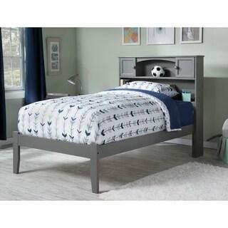 Newport Twin XL Platform Bed with Open Foot Board in Atlantic Grey