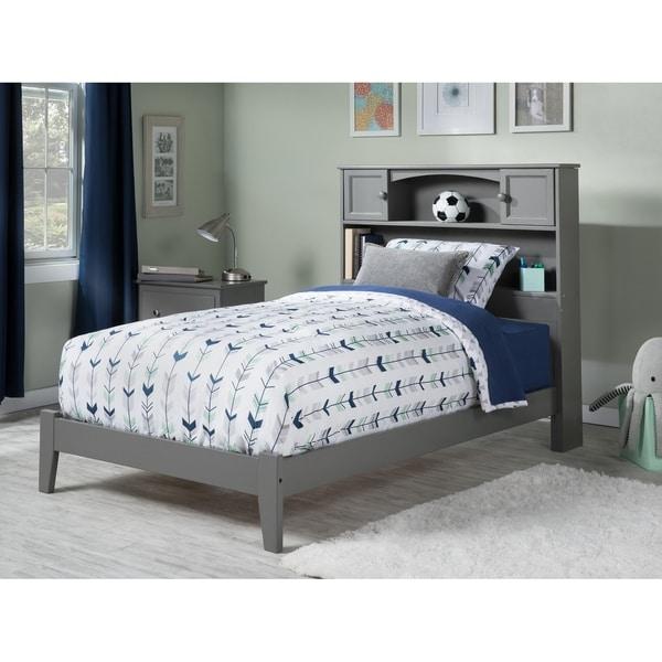 Newport Twin Traditional Bed in Atlantic Grey