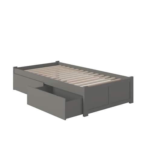 Concord Twin XL Atlantic Grey Platform Bed
