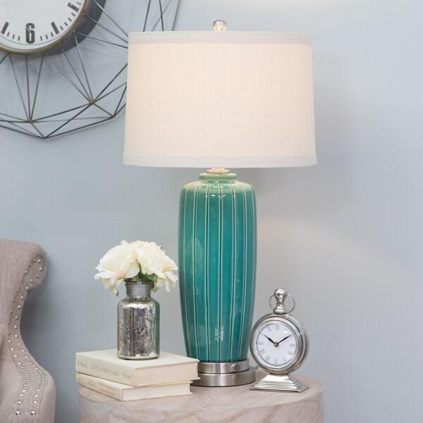 Erika Green Ceramic Table Lamp