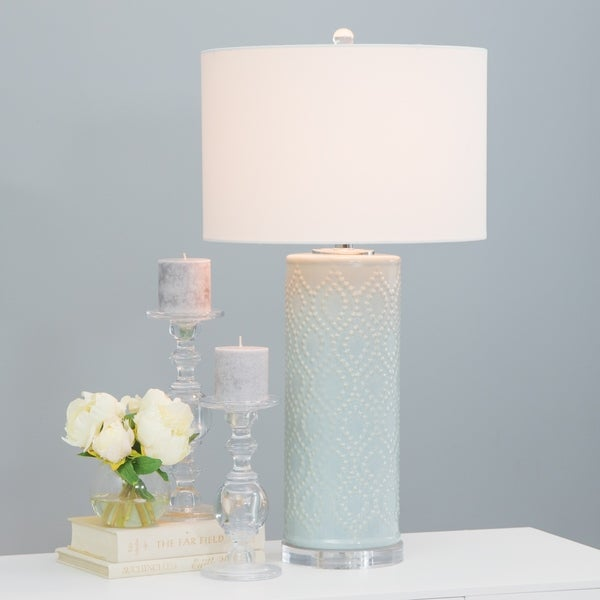 Marcy Blue Ceramic Table Lamp