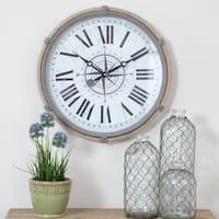 The Gray Barn Cocklebur 17.5-inch Nautical Wall Clock