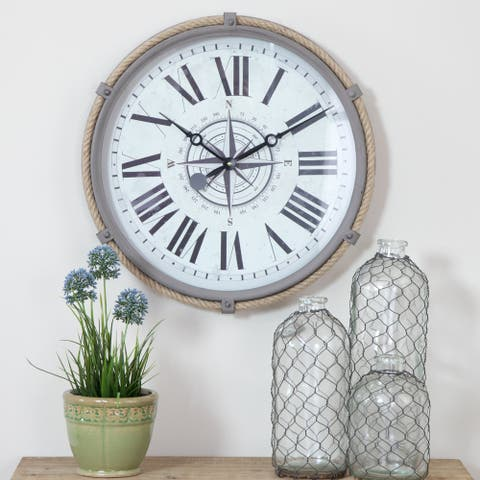 "The Gray Barn Cocklebur 17.5-inch Nautical Wall Clock - 17.5""h x 17.5""w x 2""d"