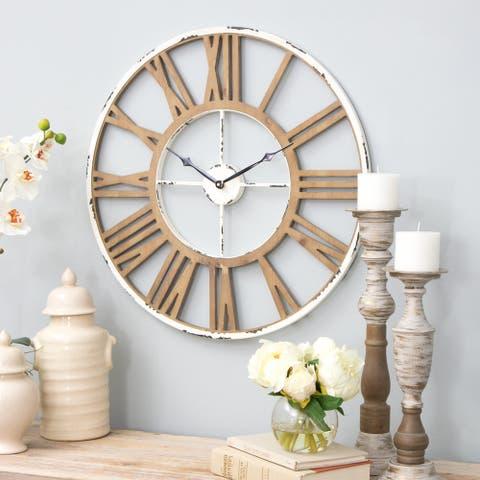 "The Gray Barn Jartop Janelle Farmhouse Wall Clock - 24""h x 24""w x 1.5""d"