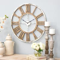 "Janelle Farmhouse Wall Clock - 24""h x 24""w x 1.5""d"
