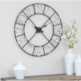 "Zandra Metal Wall Clock - 30""h x 30""w x 1.5""d"