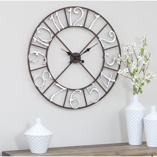 """Zandra Metal Wall Clock - 30""""h x 30""""w x 1.5""""d"""