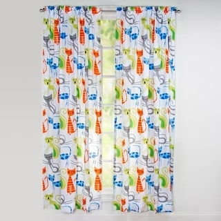 Link to Learning Linens Smarty Cat 84 inch Rod Pocket Curtain Panel Similar Items in Window Treatments