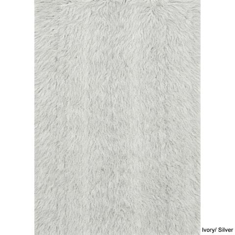 Alexander Home Faux Sheepskin Textured Shag Rug
