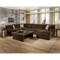 SofaTrendz Fresno Chocolate Sectional