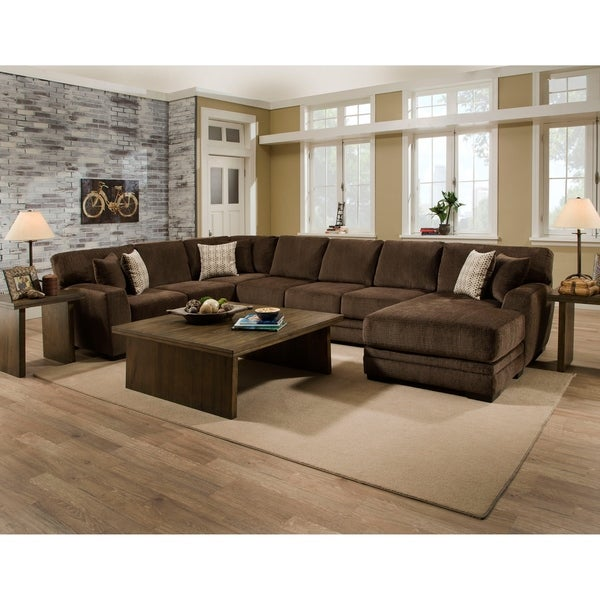 Strick & Bolton Allegrain Brown Sectional