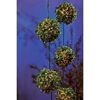 Living Accents  LED Topiary Ball  Light Set  Clear  7.5 ft. L