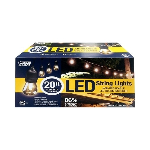 Feit Outdoor String Lights Not Working: Shop FEIT Electric LED Lantern Light String Clear 20 Ft. L
