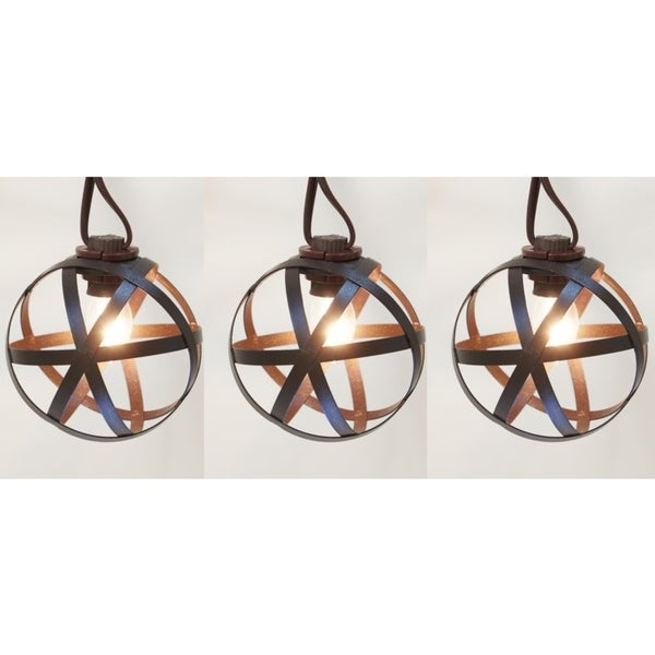 Living Accents LED C7 Bronze Orb Light Set Clear 13 1/2 Ft.