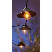 Living Accents  Metal Hood Globe  Light Set  Clear  9 ft. L