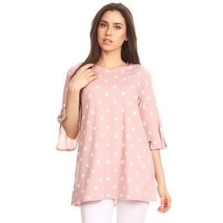 Women's Polka Dot Tunic Top