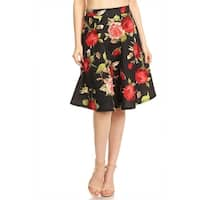 Women's Floral Pattern Print Skirt