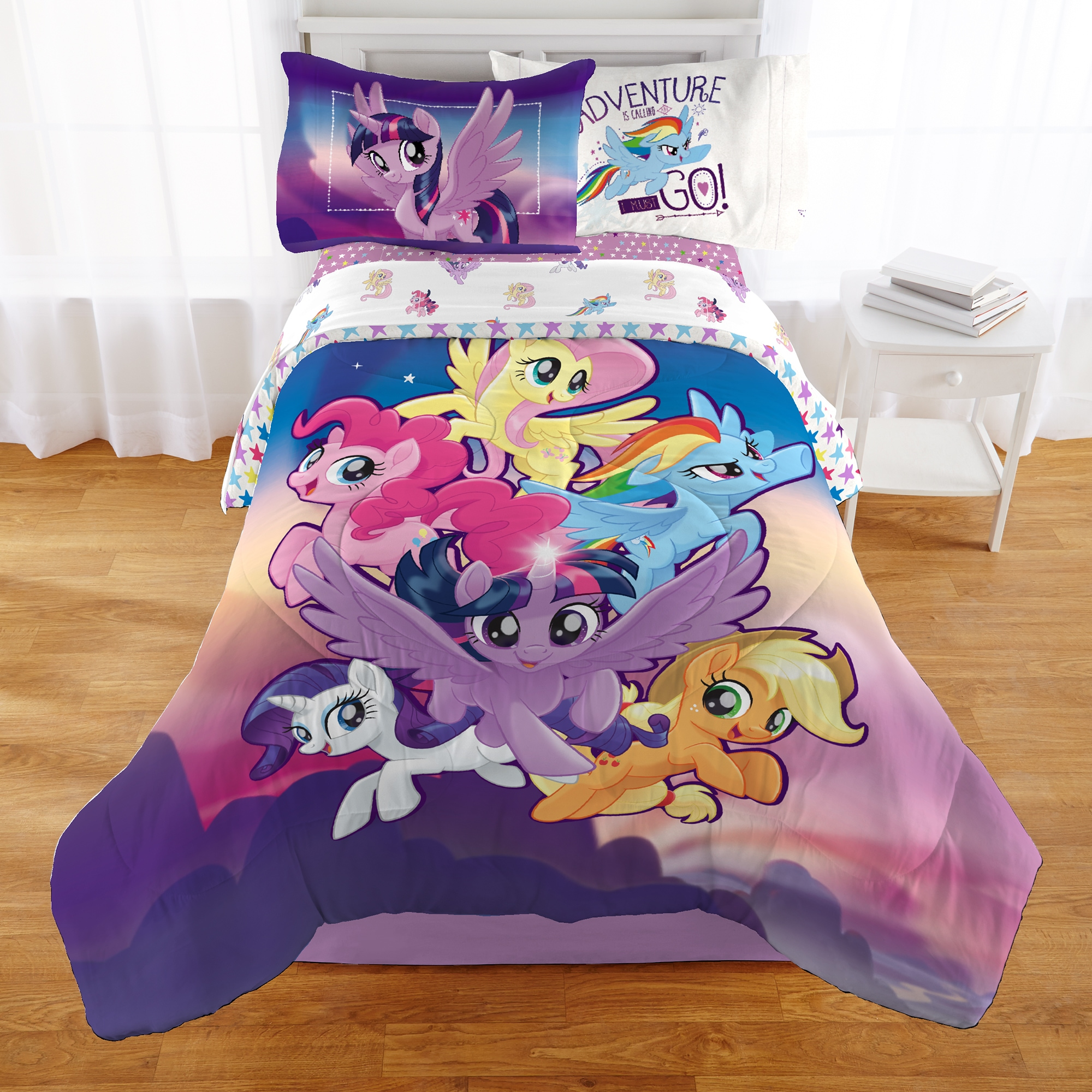 My Little Pony Toddler Bed Set Duvet Pillow /& Duvet Cover 4 in 1 Bed in a Bag