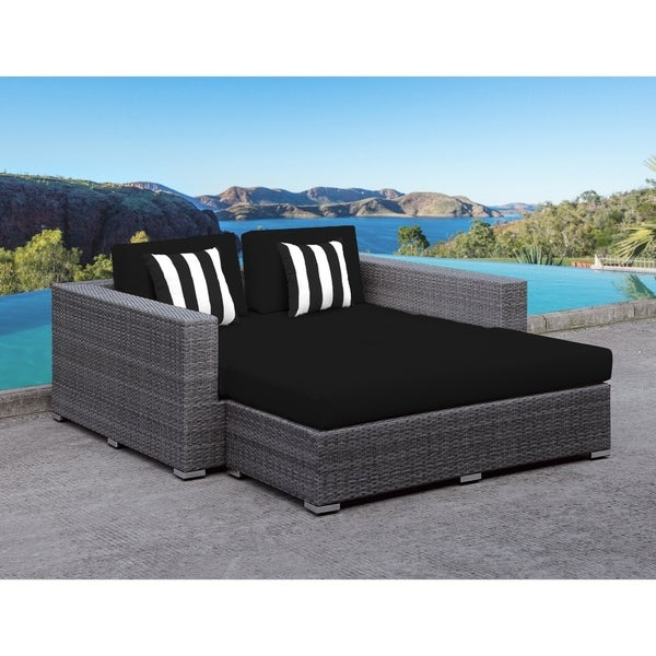 Shop Solis Lusso Outdoor Daybed Black Cushions Black