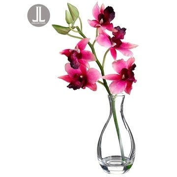 Shop 10 Vanda Orchid In Glass Vase On Sale Free Shipping Today