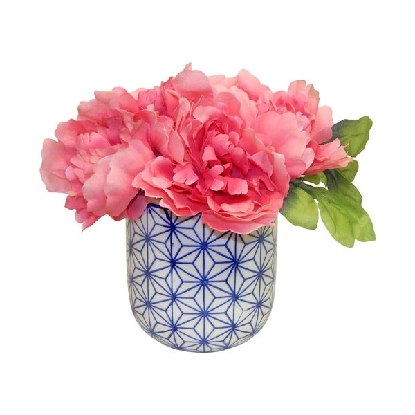Peonies in Dolly Pot