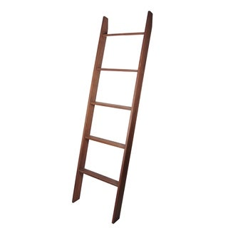 "Lucus Walnut 72"" Decorative Blanket Ladder"