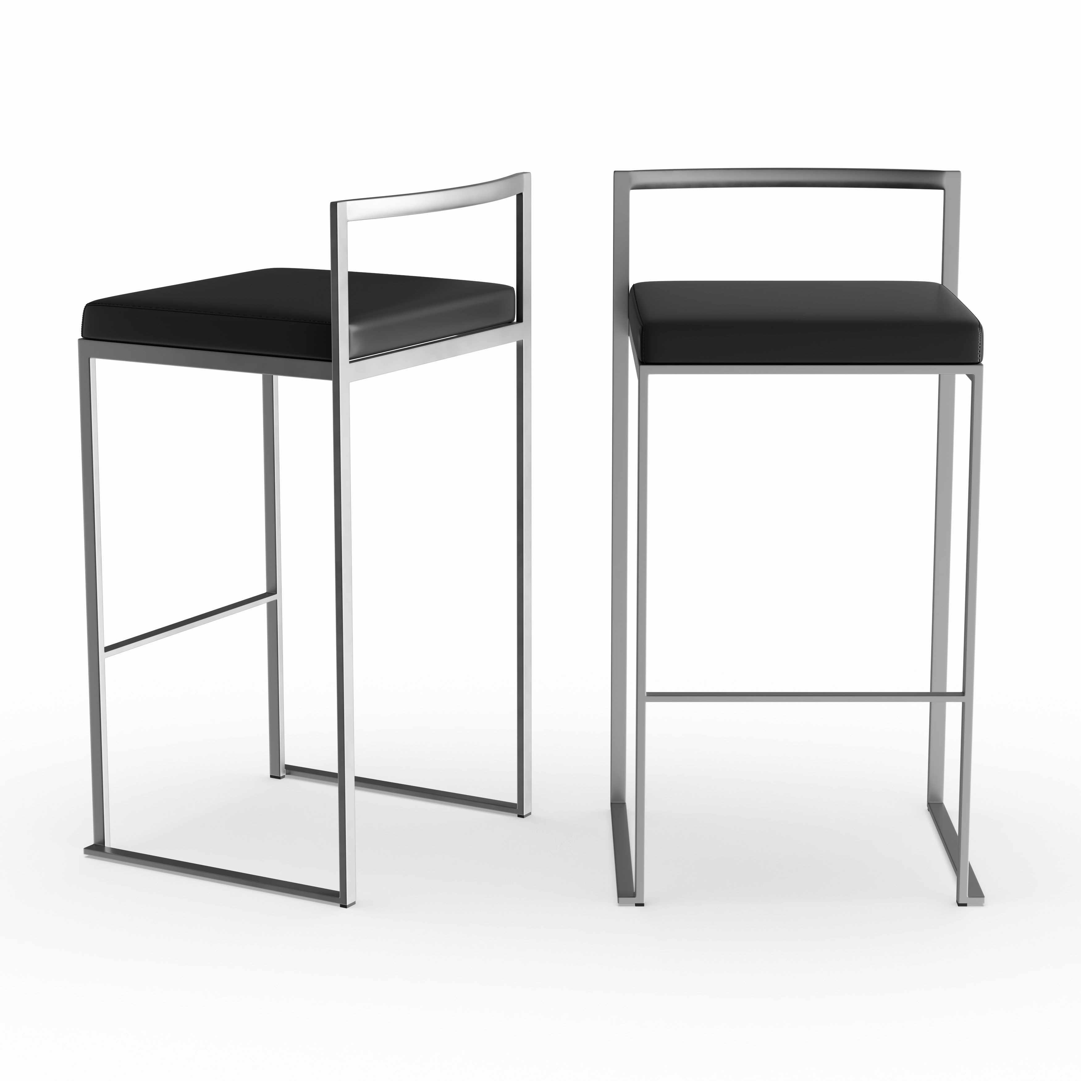 Silver Orchid Forrest Stackable Bar Stool Set Of 2 N A