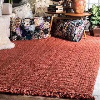 Havenside Home Caladesi Handmade Braided Natural Jute Reversible Area Rug