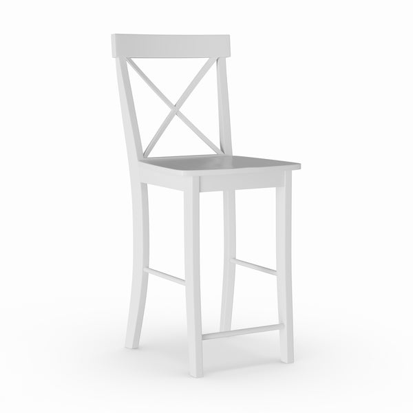 Shop X Back Counter Stool White Free Shipping Today Overstock