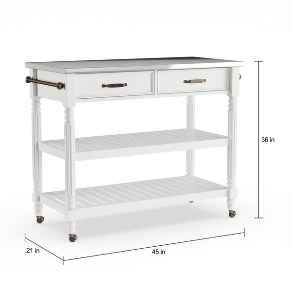Shop The Gray Barn Alroy Downs White Kitchen Cart - On Sale ...