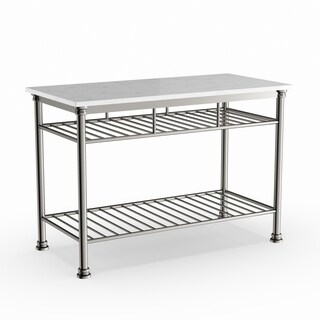 Maison Rouge Abrams Kitchen Island with Marble Top