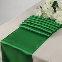 Pack Of 10 Green Wedding 12 x 108 Satin Table Runner For Wedding Banquet