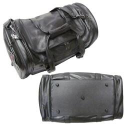 Amerileather Black Leather 20-inch Carry On U-shaped Duffel