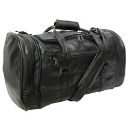 Amerileather Black Leather 20-inch Carry On U-shaped Duff...