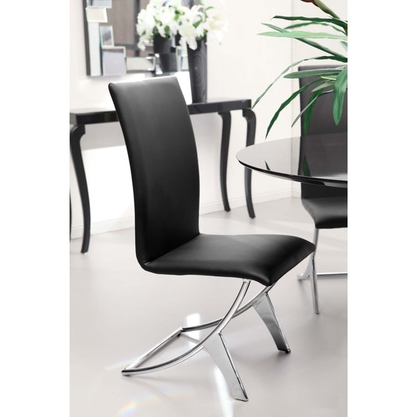 Missoni Home Dining Chair Miss: Shop Delfin Black Leatherette 18-inch Seat Height Dining