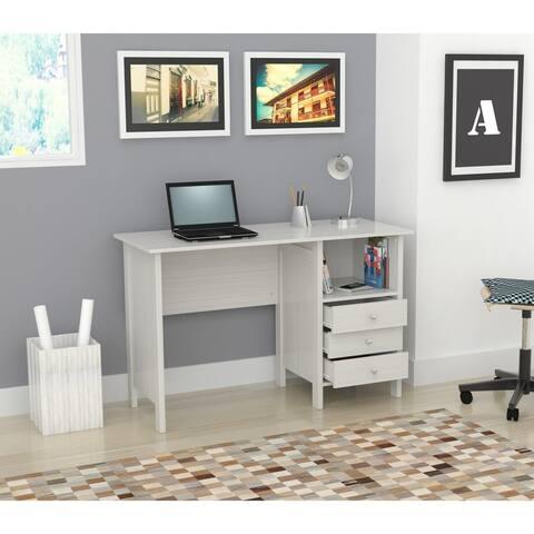Porch & Den Trevor White Modern Straight Desk