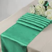 Pack Of 10 Mint Wedding 12 x 108 Satin Table Runner For Wedding Banquet