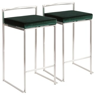Silver Orchid Forrest Stackable Counter Stool (Set of 2)