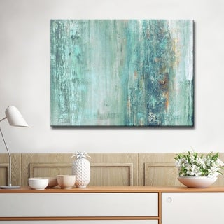 Maison Rouge 'Abstract Spa' Gallery-wrapped Canvas - Blue/Green