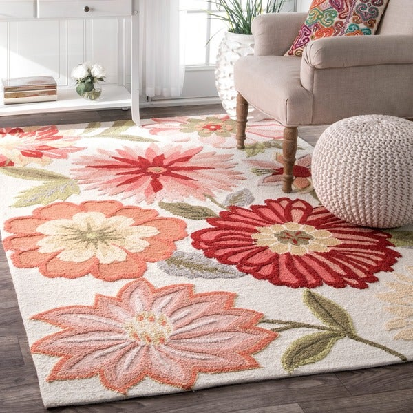 The Curated Nomad Suncrest Handmade Flower Area Rug