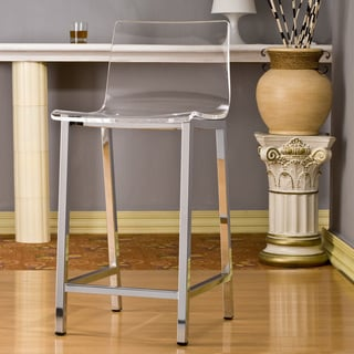 Superb Pure Decor Clear Acrylic Counter Stool Overstock Com Shopping The Best Deals On Bar Stools Evergreenethics Interior Chair Design Evergreenethicsorg