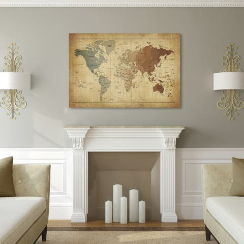 Copper Grove Map Canvas Art