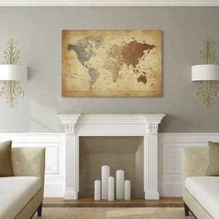Oliver & James Map Canvas Art