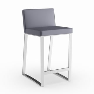 Strick & Bolton Julien Contemporary 26-inch Counter Stool in Grey (As Is Item)
