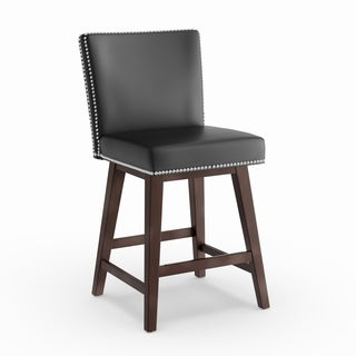 Strick & Bolton Grayson Bonded Leather 26-inch Swivel Counter Stool
