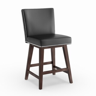 Oliver & James Grayson Bonded Leather 26-inch Swivel Counter Stool