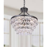 Silver Orchid Andral  Antique Crystal Chandelier