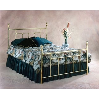 Copper Grove Aster Classic Brass Metal Head and Footboard Bed Set