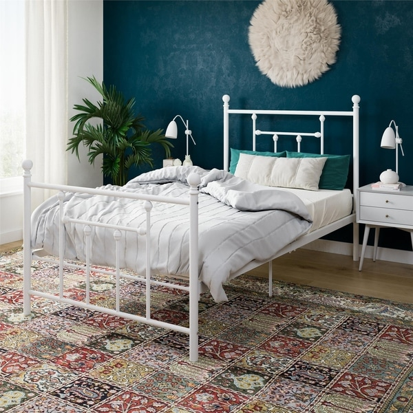 Avenue Greene Marina White Metal Bed